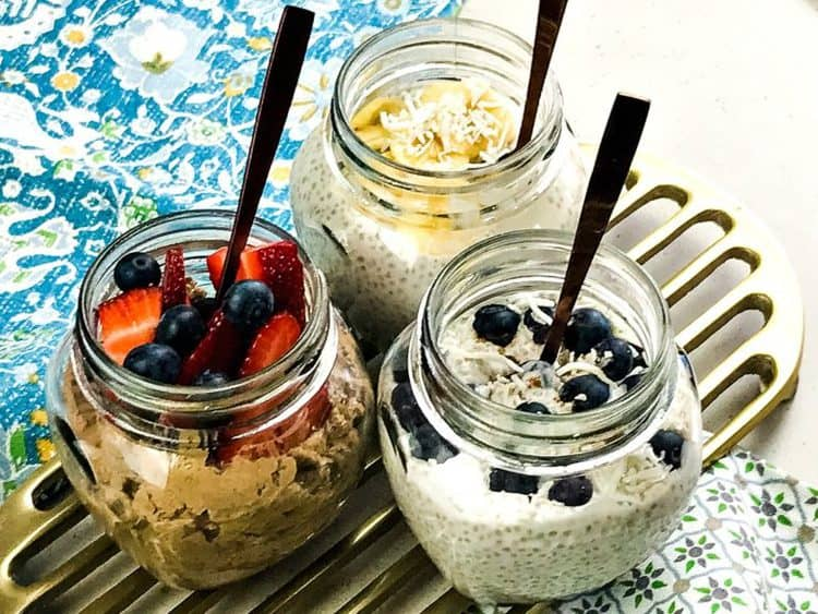Chia Pudding 3 Ways, chia seed recipes