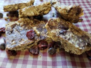 Cranberry Oatmeal Chocolate Bars, chia seeds