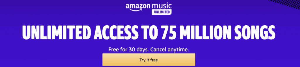 Get Amazon Music Unlimited for Free