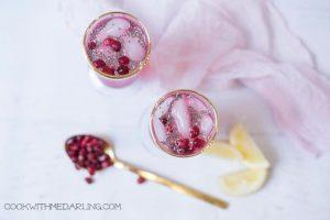 Pomegranate Lemonade with Chia, chia seeds food