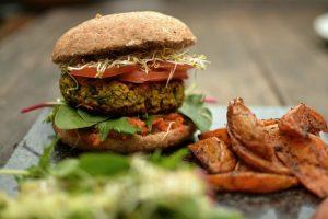Vegan Carrot, Coriander & Quinoa Burgers, chia seeds food