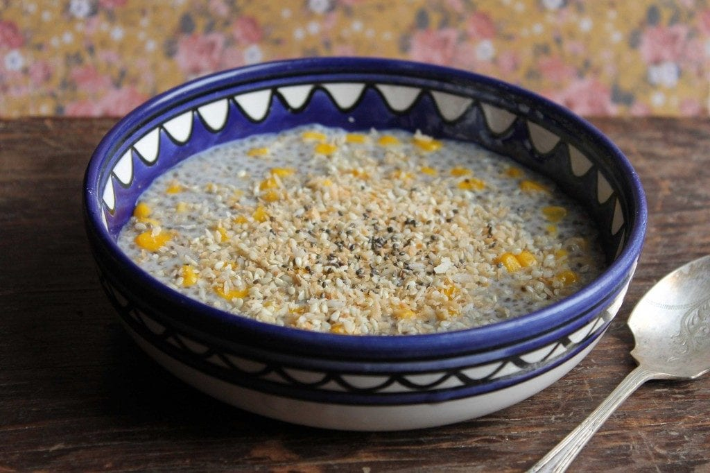 Vietnamese Coconut and Corn Chia Pudding, chia seeds food