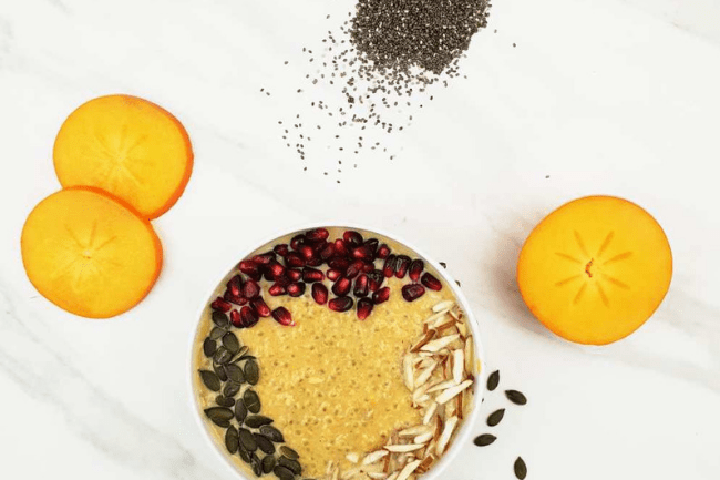chia-persimmon-porridge, chia seed recipes