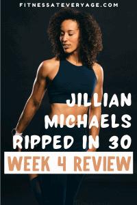 Jillian Michaels Ripped in 30 Week 4