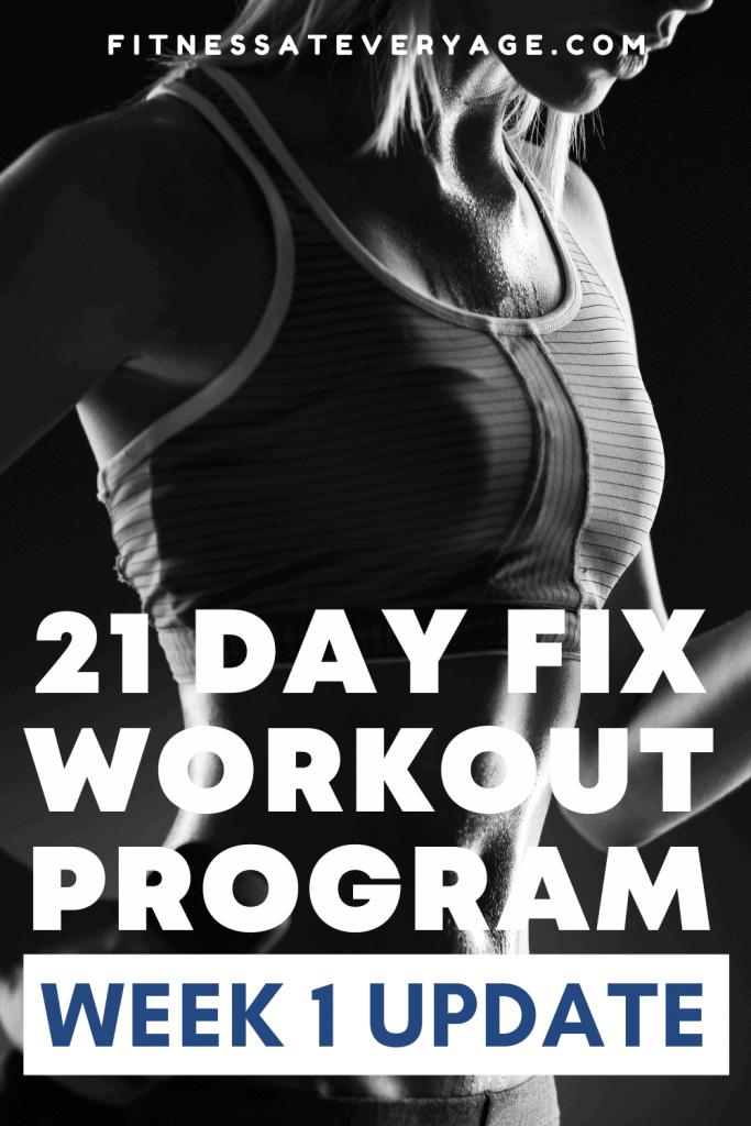 21 Day Fix Workout Program Week 1 Update