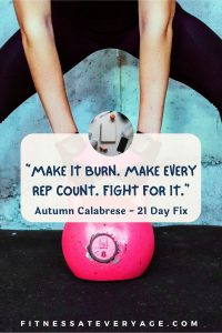 Make it burn. Make every rep count. Fight for it