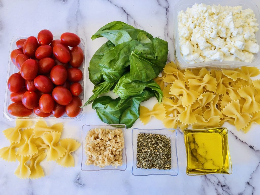 Pasta With Feta Ingredients