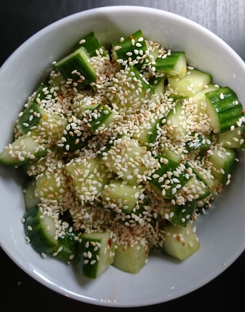 Cucumber and Toasted Sesame Salad