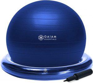 Gaiam Essentials Balance Ball & Base Kit