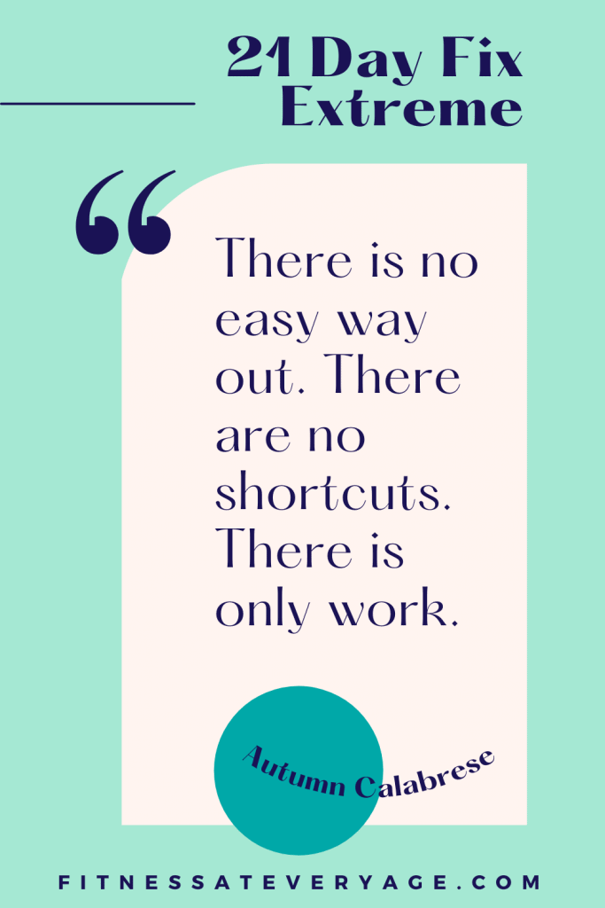 There is no easy way out. There are no shortcuts. There is only work.
