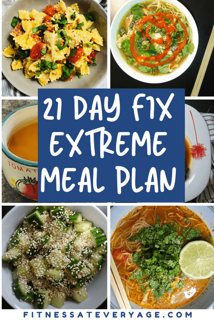 21 Day Fix Extreme Meal Plan Ideas