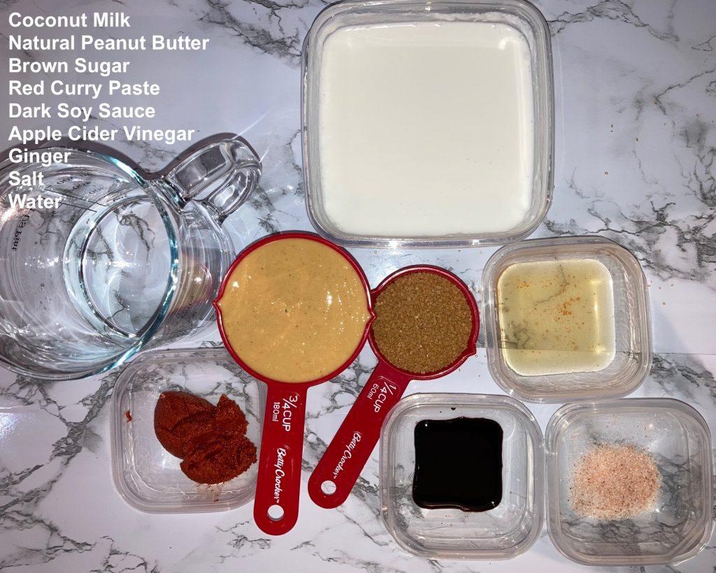 Amazing Thai Peanut Sauce Recipe Ingredients