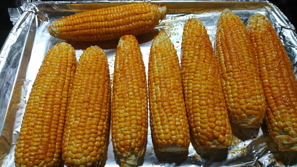 Oven Roasted Corn on the Cob Butter Coating