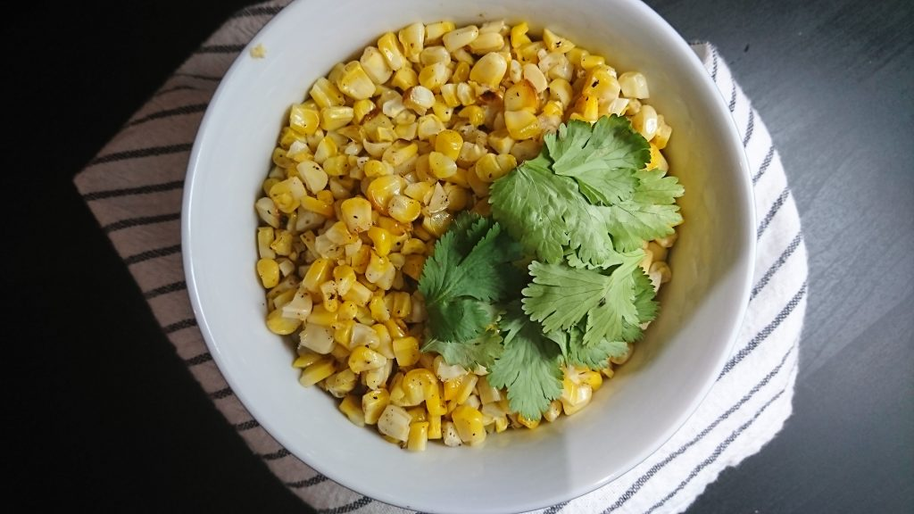 Oven Roasted Corn on the Cob Kernels With Cilantro